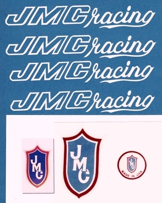 White JMC Racing Decals
