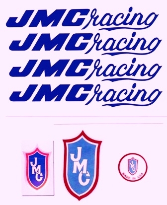 Blue JMC Racing Decal set 80-85