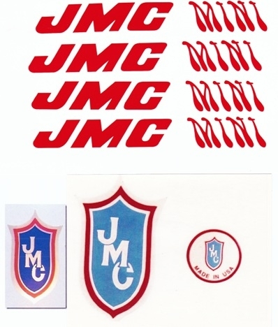 Red JMC Mini Decal set