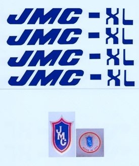 Blue JMC XL decals