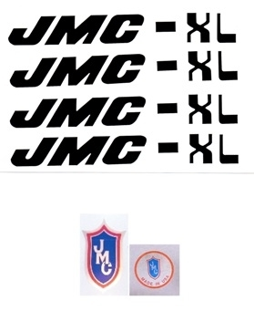 Black JMC XL decals