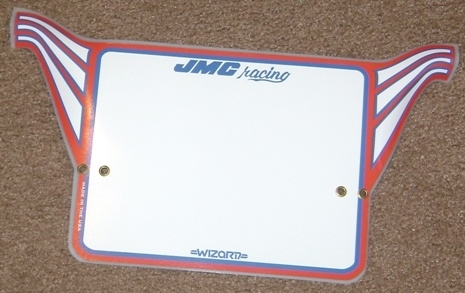 JMC® Racing Wizard Mini Number plate. NOW AVAILABLE!