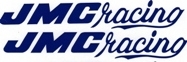 2 Blue JMC® Racing F/F decals