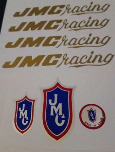 Gold JMC Racing Decal set 80-85