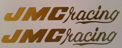 2 Gold JMC Racing F/F decals