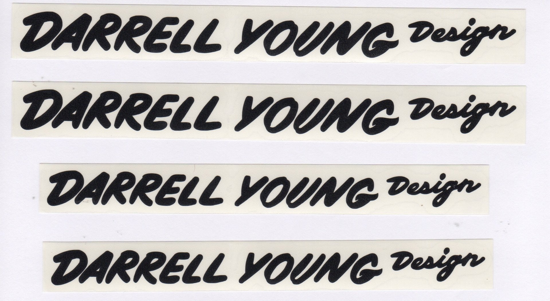 Black JMC® Racing BMX Vinyl Rub-on Darrell Young Design Decal set