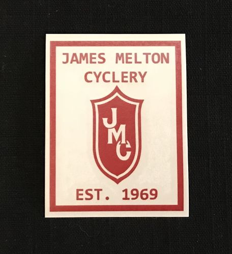 Red 1969 James Melton Cyclery  Commemorative Decal