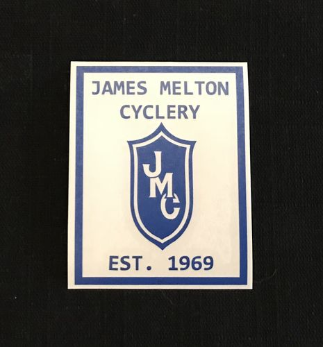 Blue 1969 James Melton Cyclery Commemorative Decal