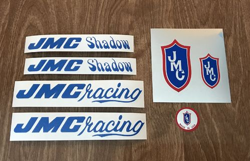 Blue JMC Shadow Decal Set