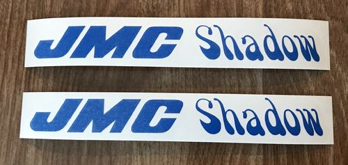 2 Blue JMC® Shadow Frame Decals.