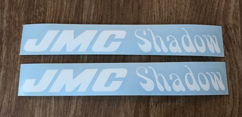 2 White JMC® Shadow Frame Decals.