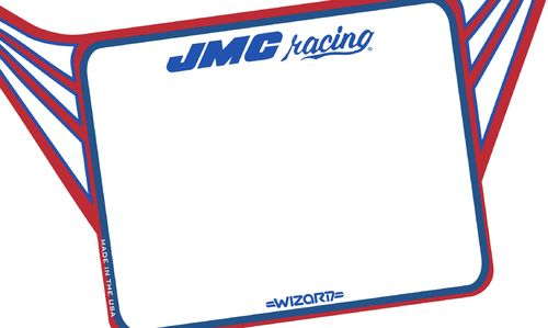 Pre-Order Now!            JMC® Racing Wizard Standard number plate.