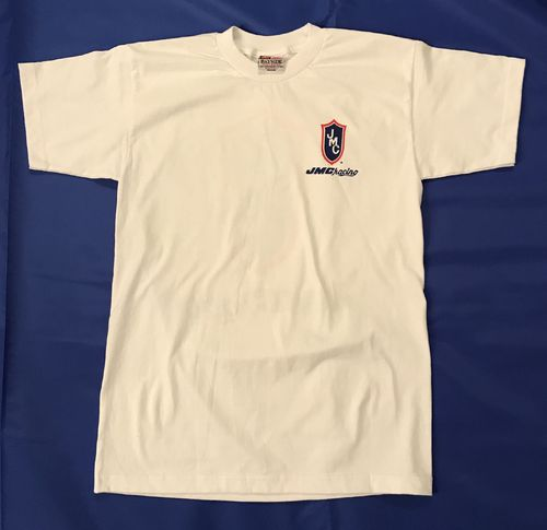 White JMC® Racing T-Shirt - Large